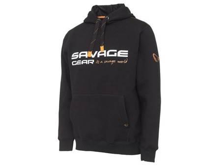 Bluza Wędkarska Savage Gear COSMO HOODIE BLACK INK