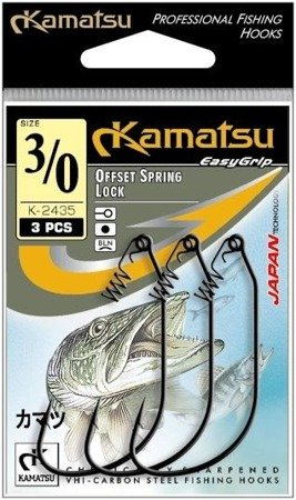 Kamatsu Haczyk Offset Spring Lock K-2435 2/0  Op.3szt