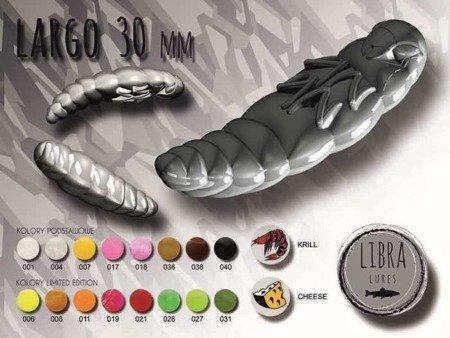Libra Lures Largo 3cm Kolor 017 Bubble Gum Zapach Cheese op.12szt