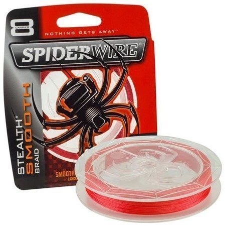 Spiderwire Plecionka Stealth Smooth 8 Red 150m 29.483kg 0,35mm